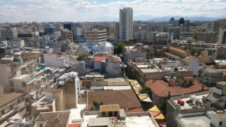 South Nicosia. You can see Tower 25, the tallest building in Cyprus.