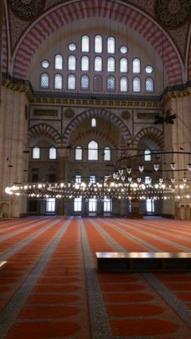 Inside the Sulemaniye Masjid