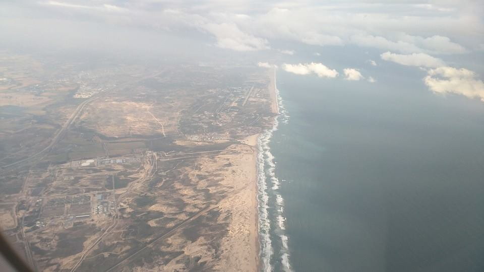 Aerial view of Tel Aviv.