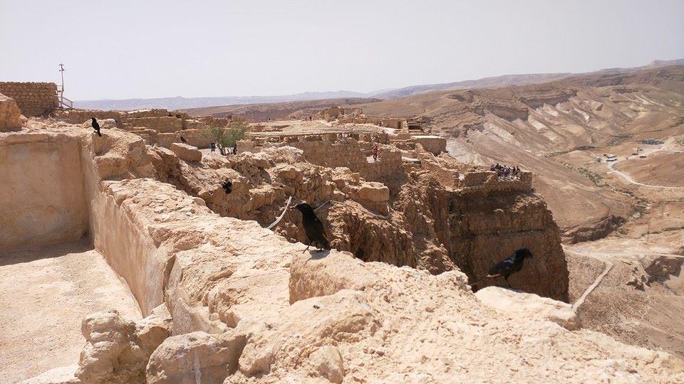 Inside Masada complex.