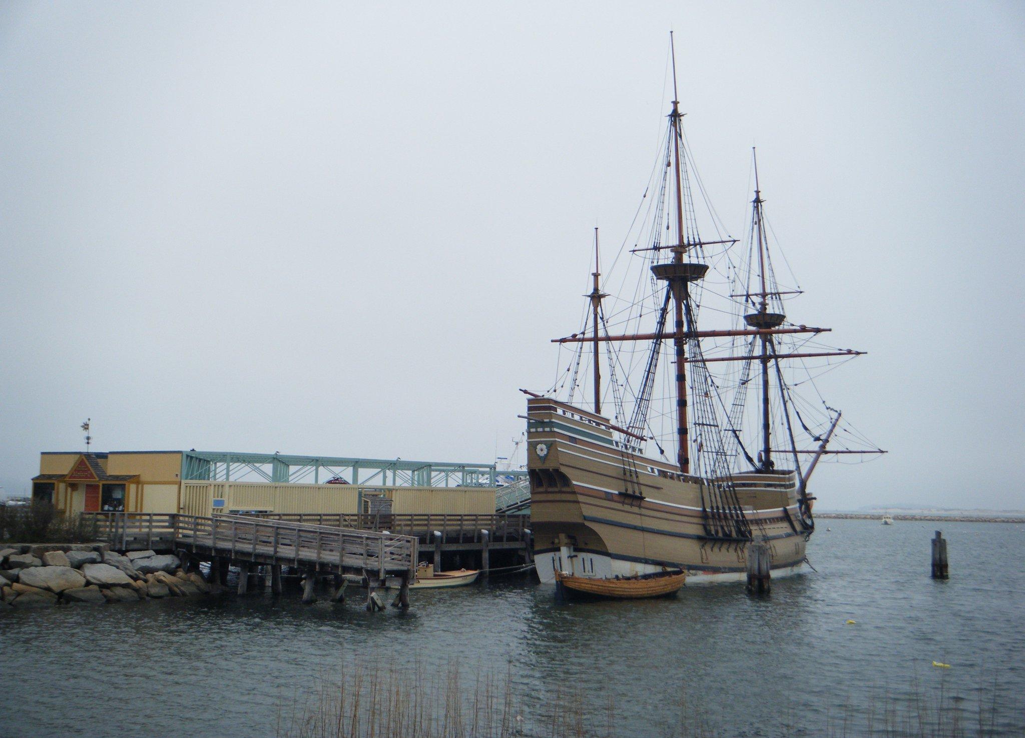 The Mayflower II, Plymouth Rock.