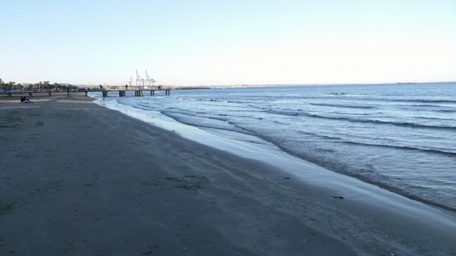 Finikoudes beach, Larnaca.
