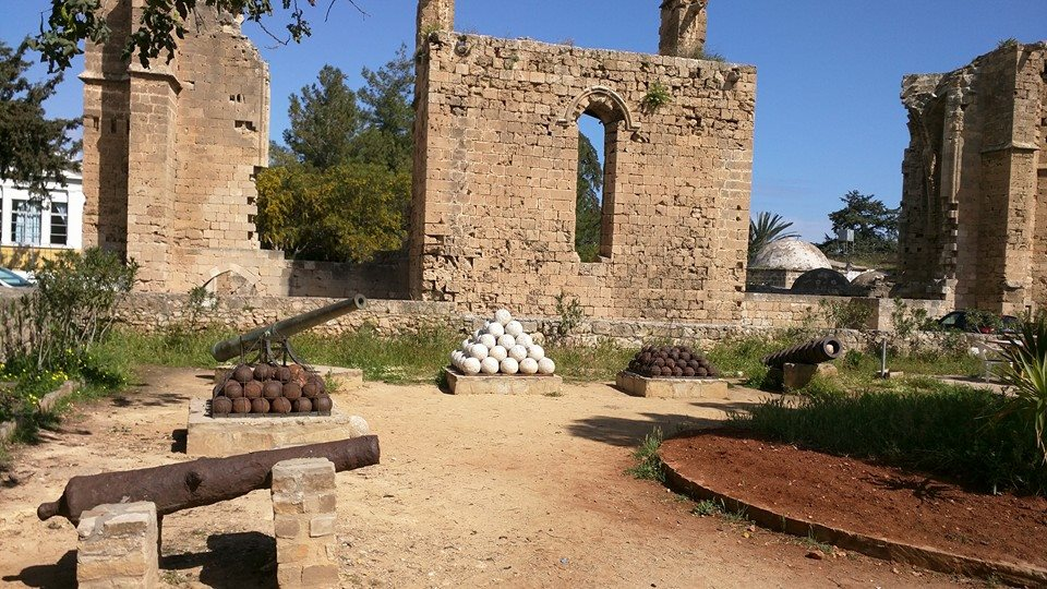 Ruins of Venetian Royal Palace complex in Famagusta.