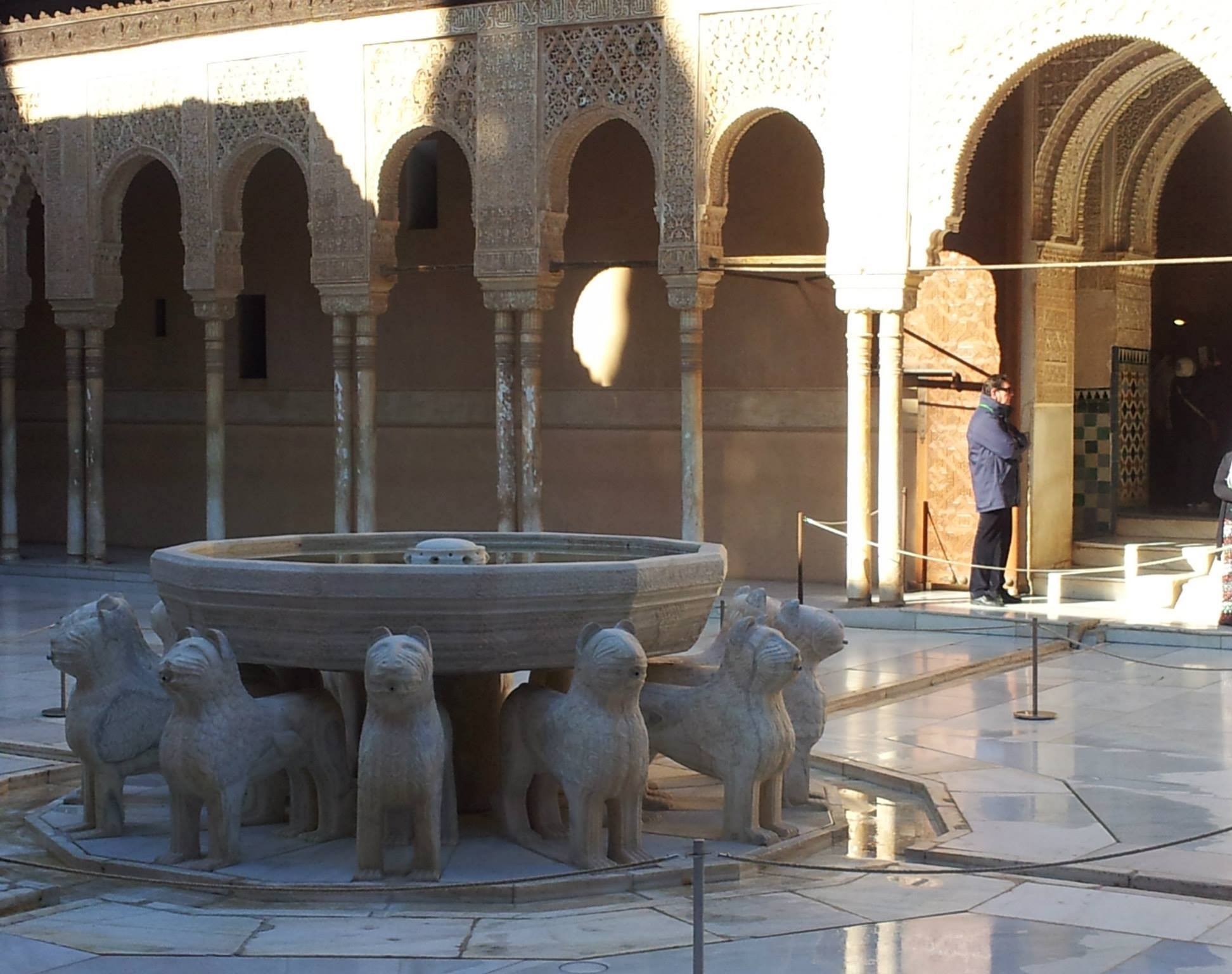 Court of the Lions, inside the Nasrid Palace