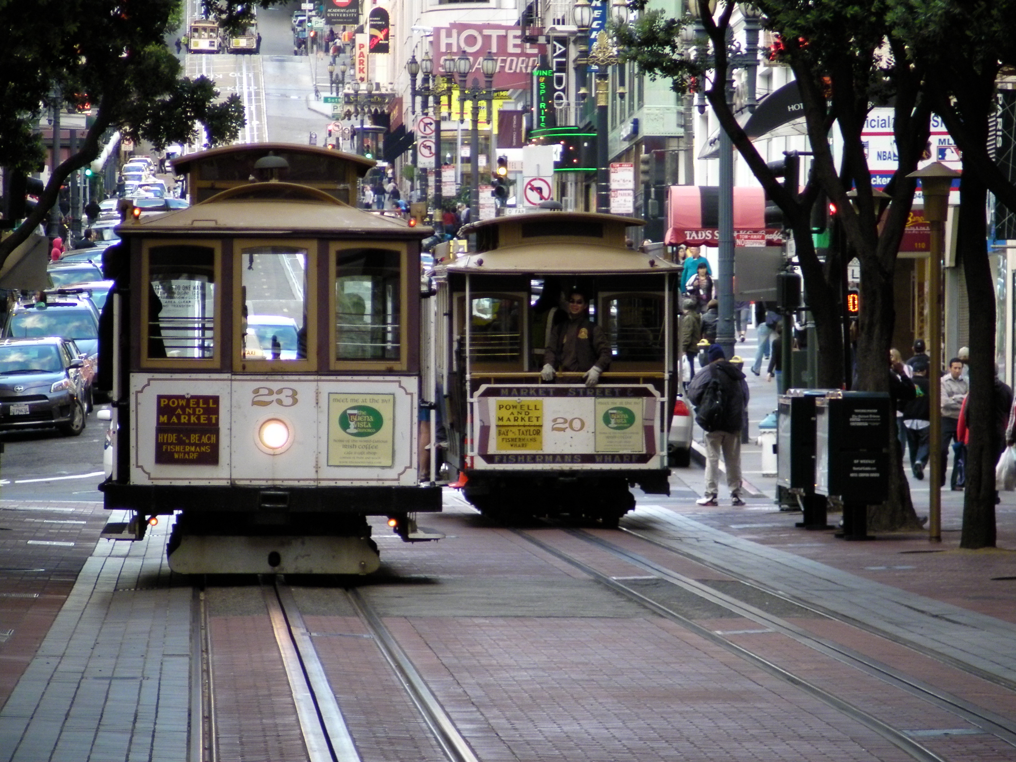 San Francisco's famous cable cars