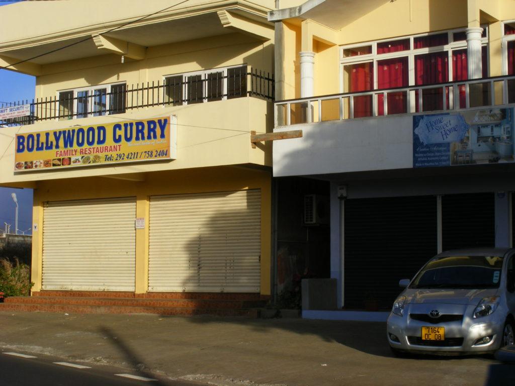 Bollywood Curry restaurant, Mauritius