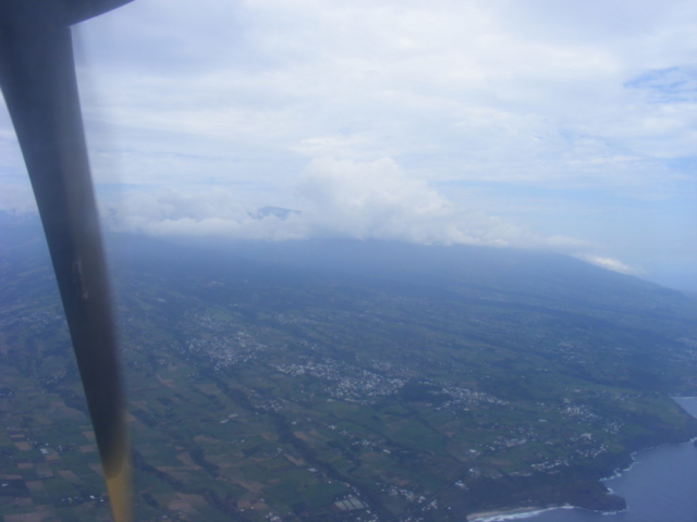 my first glimpse of Reunion Island