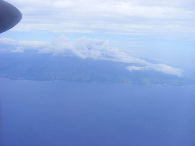 Arriving by air, my first glimpse of Reunion Island.