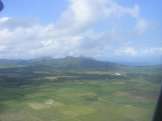 Mauritius from above.