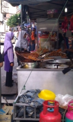 Food Market near Jalan India Mosque - looks delicious!