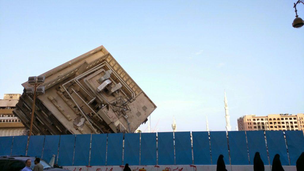 Broken building in Madina