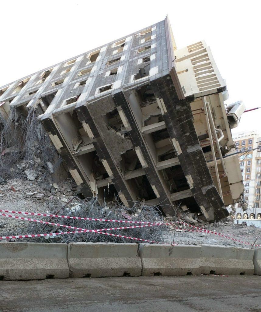 Broken building in Madinah