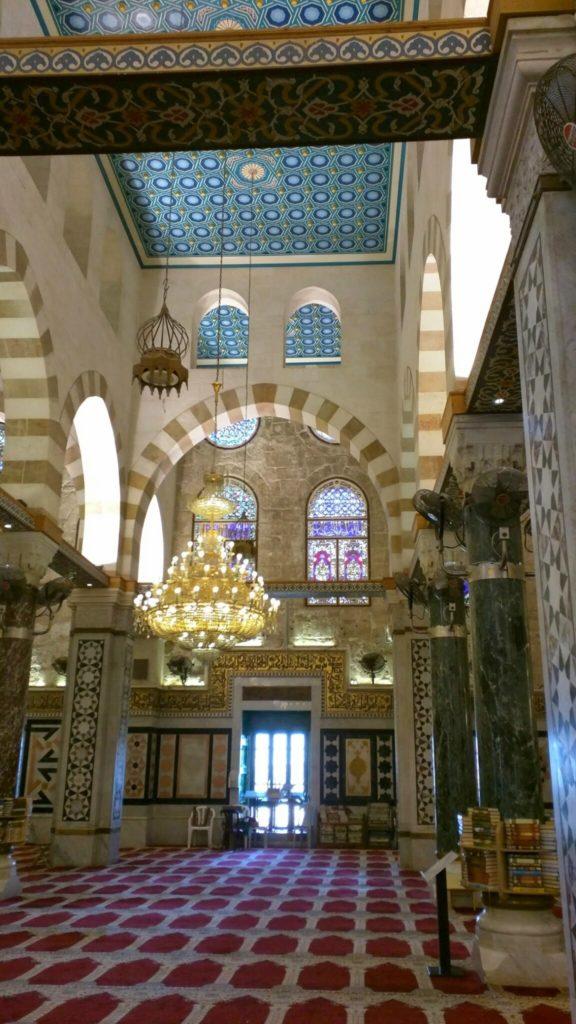 Inside Masjid al Aqsa.
