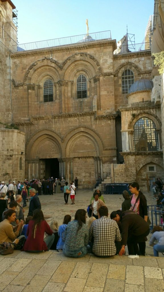 Entrance to the Church of the Holy Sepulchre.