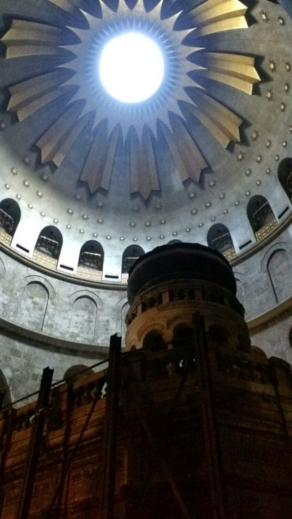 Inside Church of the Holy Sepulchre.