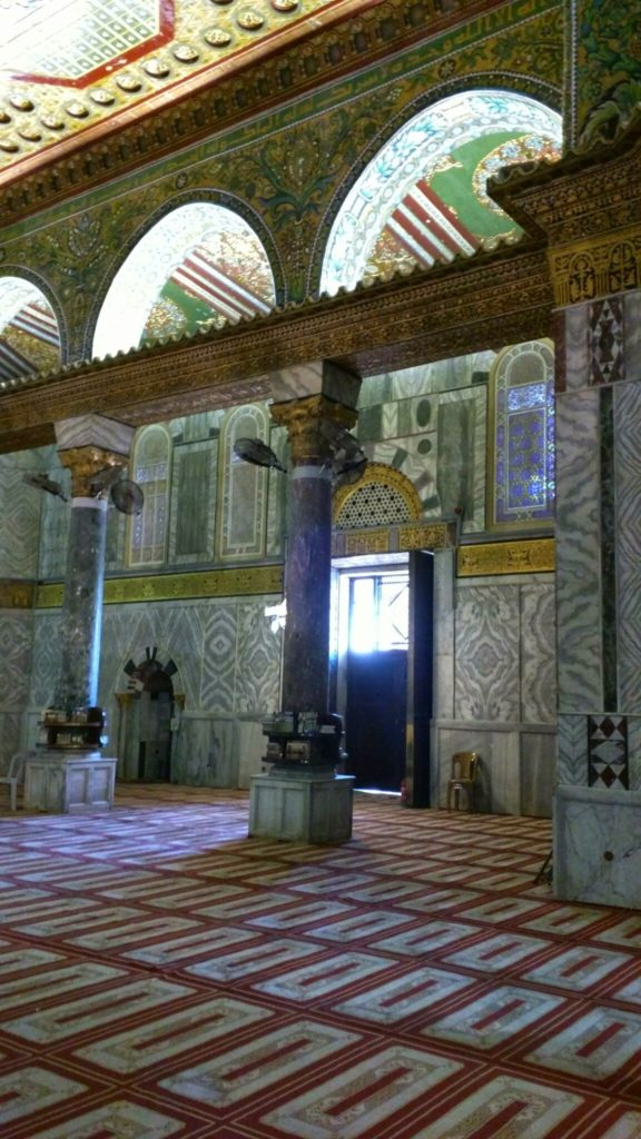 Inside Dome of the Rock.
