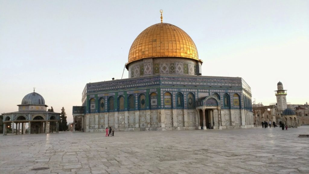 Visiting Dome of the Rock for Maghrib salah.