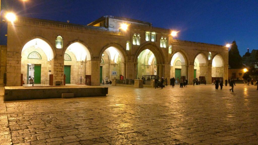 Masjid al Aqsa after Maghrib salah.