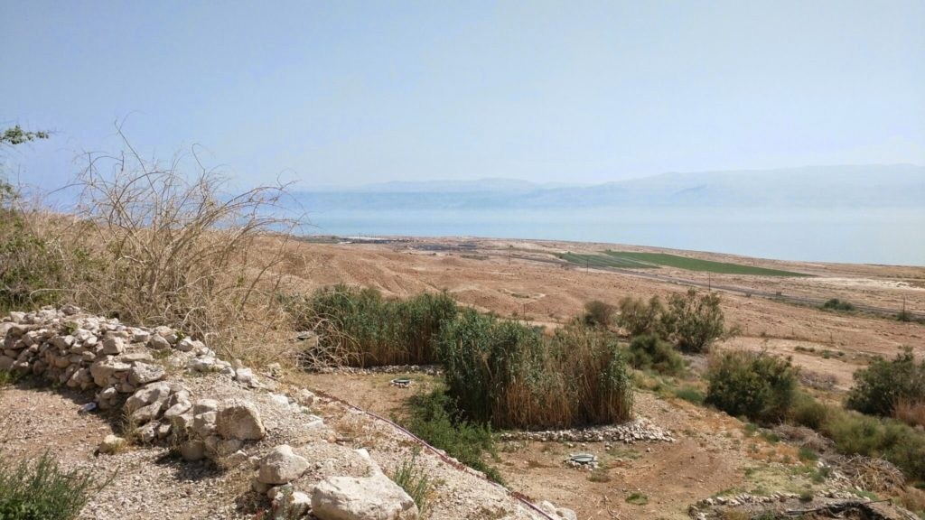 Judean desert next to the Dead Sea.