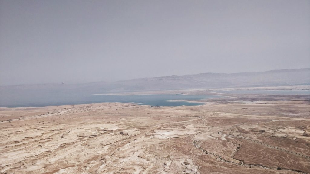 View of the Dead Sea from the Masada fortress.