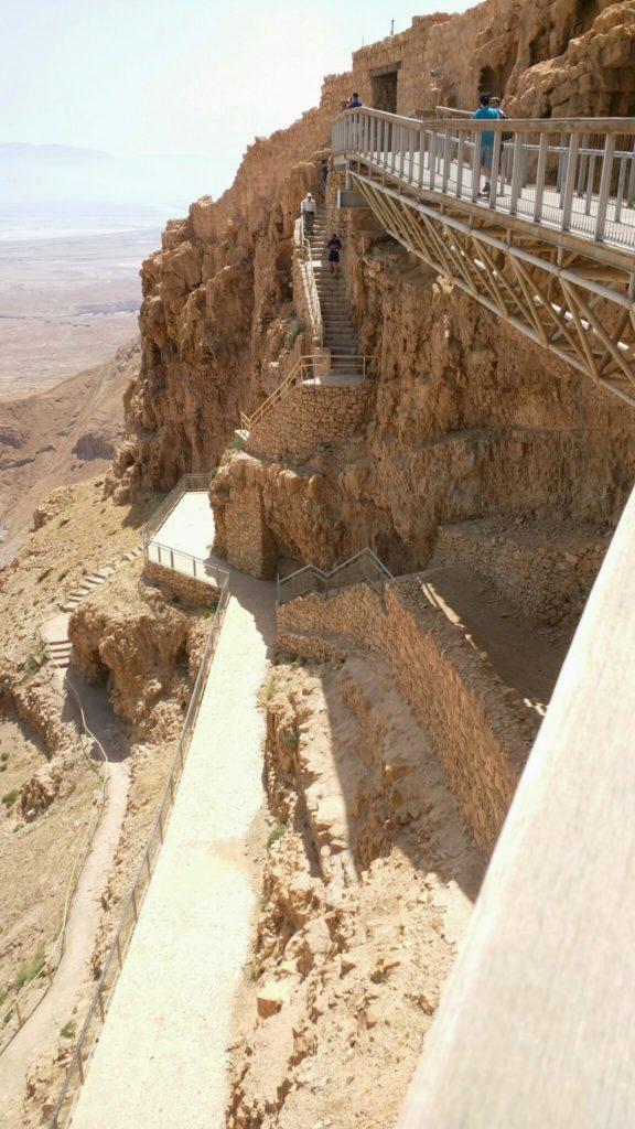 Inside Masada complex