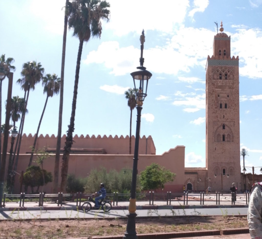 Outside Koutoubia Masjid