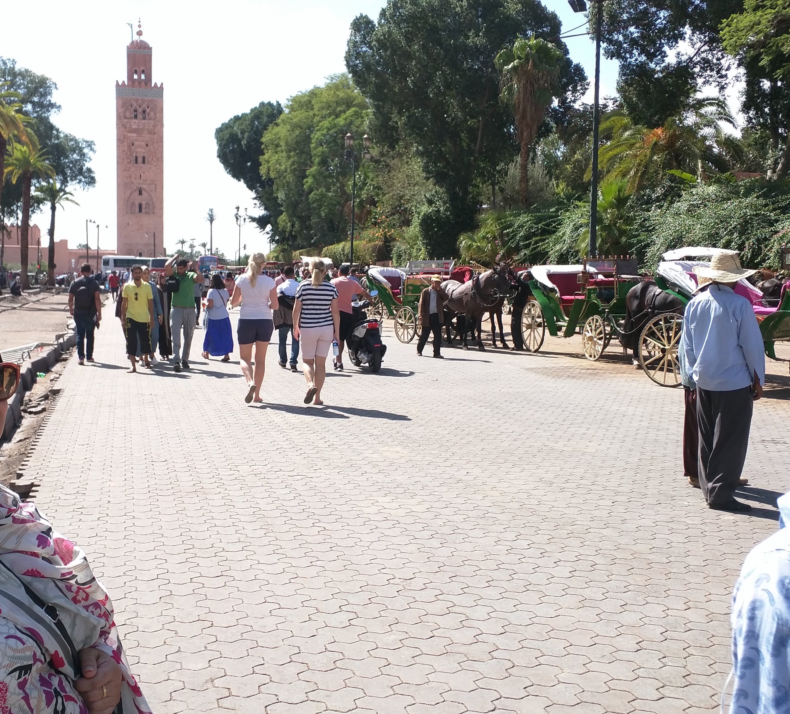 At Square de Foucauld, which sits inbetween Koutoubia and Djemaa El-Fna.