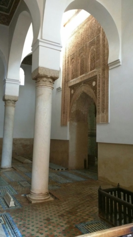 Inside the Saadian Tombs
