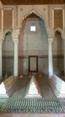 Inside the Saadian Tombs.