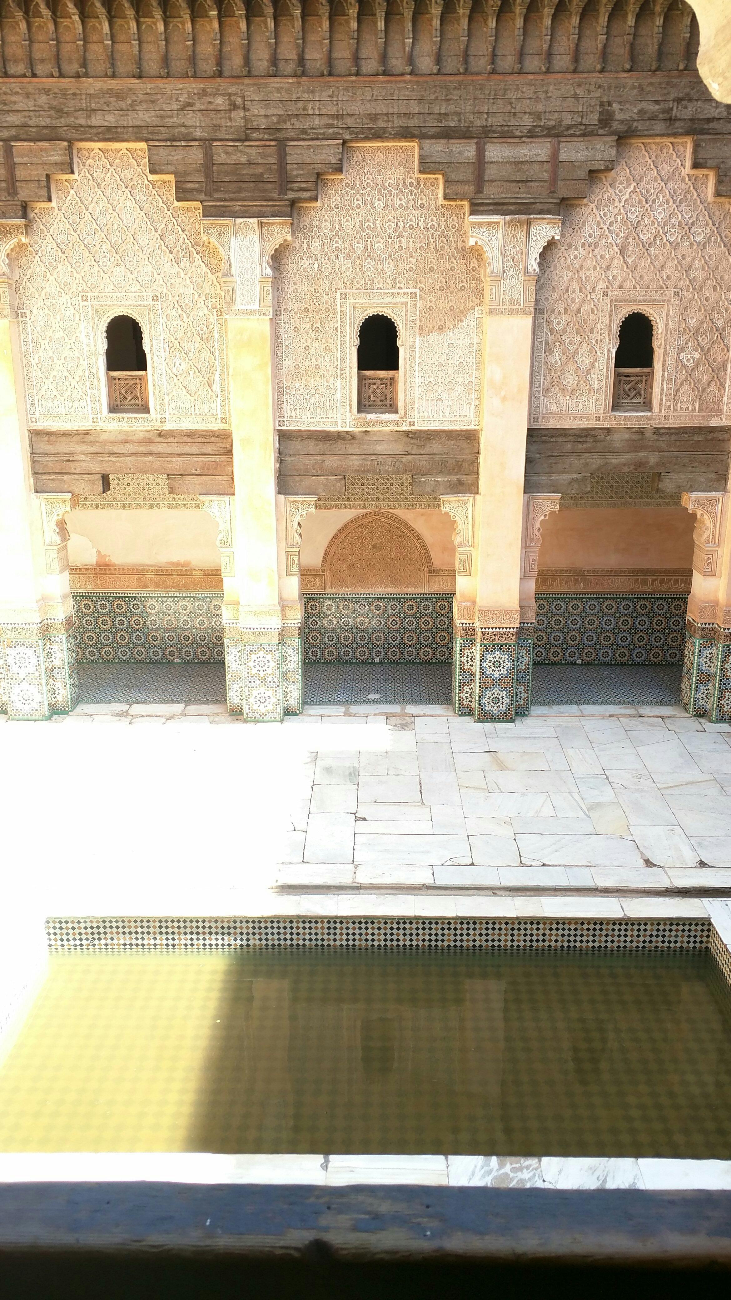 Inside Madrassah Ben Youssef.