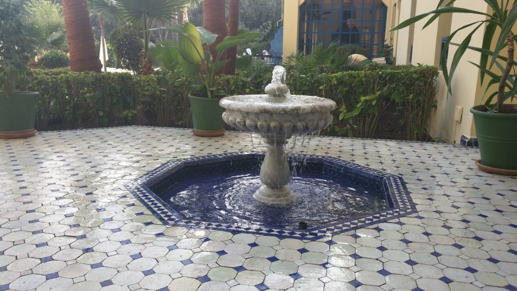 Ibis hotel courtyard, Fes.