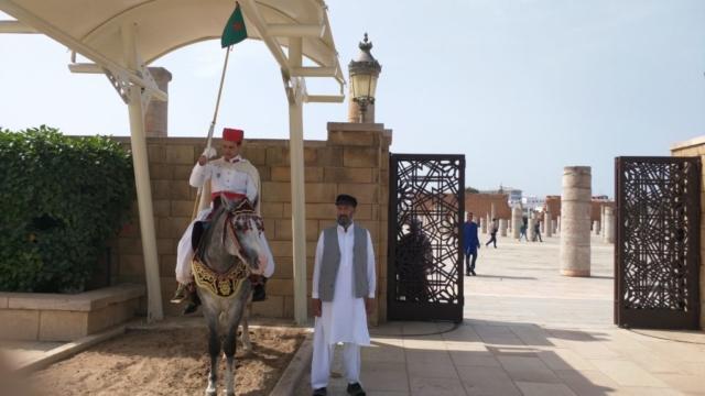 Outside Mausoleum of Mohammed V, Rabat