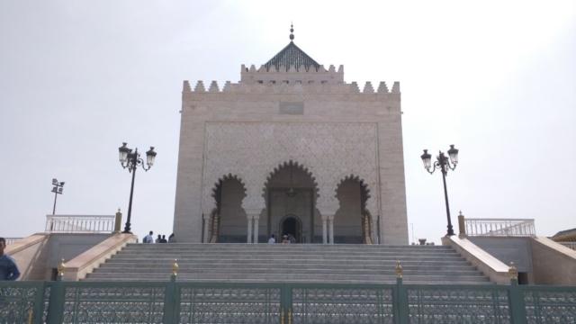 Outside Mausoleum of Mohammed V