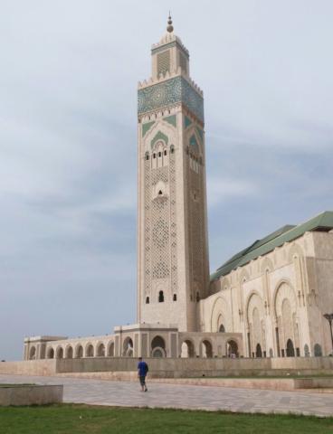 Masjid Hassan II in Casablanca.
