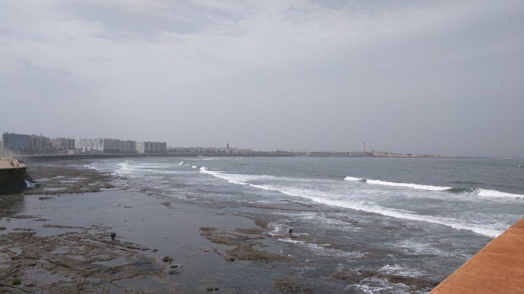 Atlantic coast beach in Casablanca