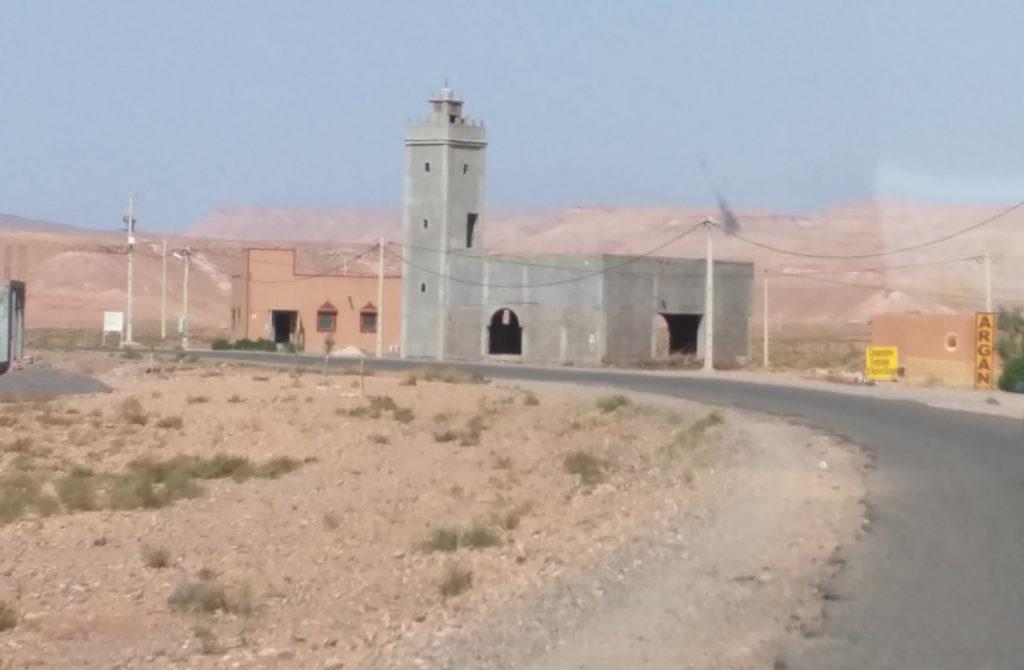 An empty Masjid in the Sahara desert.