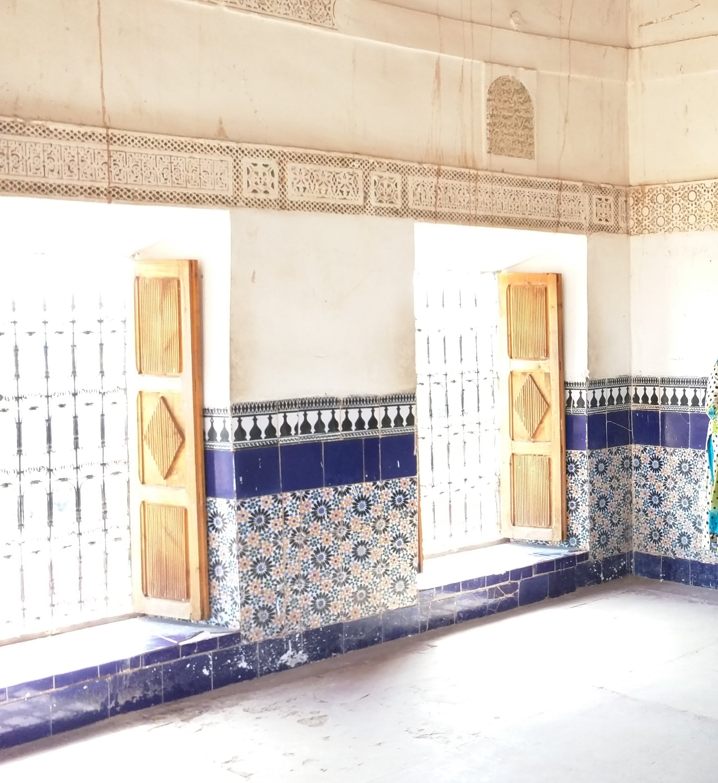 Inside Taourirt Kasbah