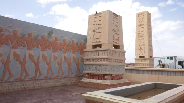 This was a set from the movie Cleopatra