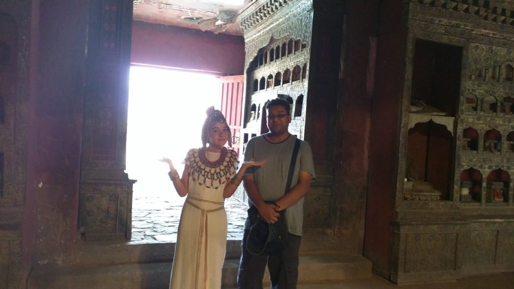 This girl is some actress who is in the new Cleopatra movie. She was nice enough to take a picture with me, after dad insisted upon it