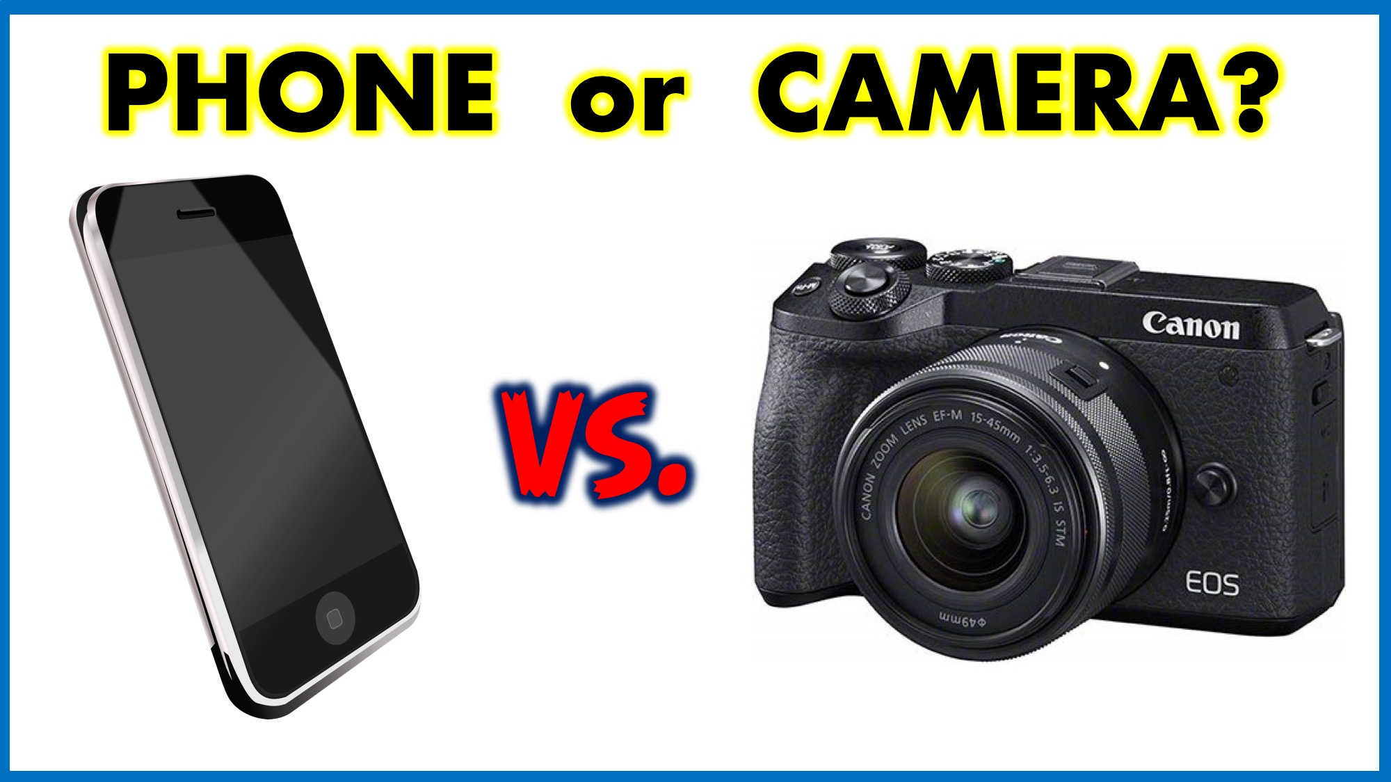 Phone vs. Mirrorless Camera