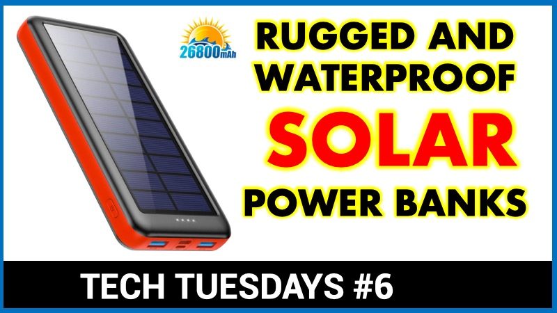 Rugged Waterproof Solar Charging