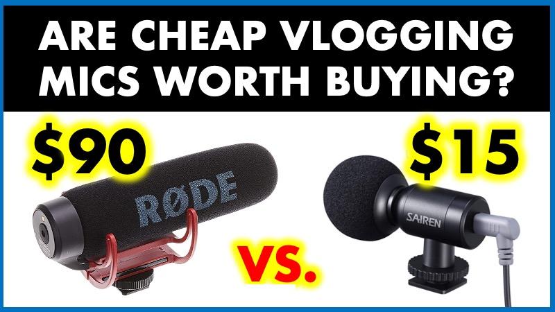 expensive vs. cheap vlogging mics