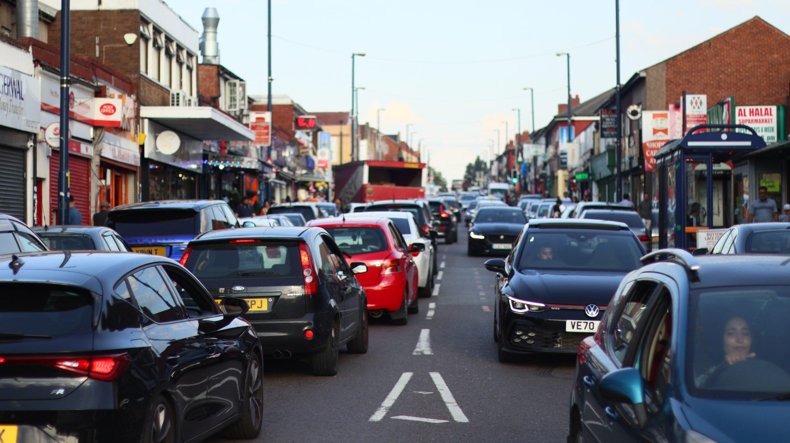 traffic jam on Alum Rock Road
